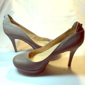 Guess Mauve Leather Platform Pumps Stiletto Shoes
